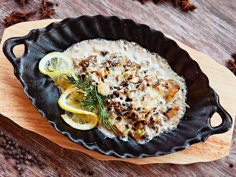 Горячая сковородка с Черноморскими рапанами